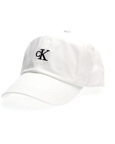 Biały kapelusz Calvin Klein
