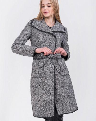 Серое пальто весеннее Olko