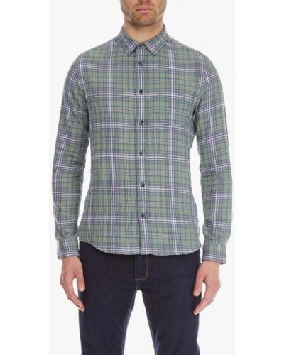 Зеленая рубашка с длинным рукавом Burton Menswear London