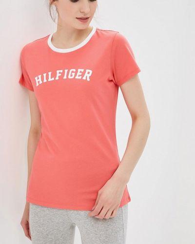 Розовая футболка домашняя Tommy Hilfiger