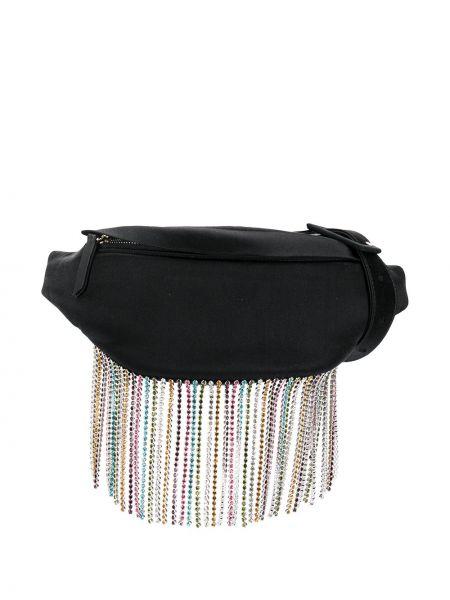 Черная поясная сумка с бахромой на молнии Les Petits Joueurs