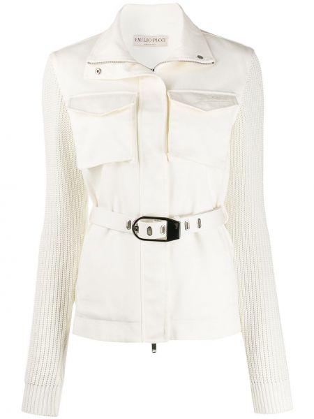 Классическая вязаная куртка с вышивкой на молнии Emilio Pucci
