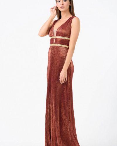 Вечернее платье осеннее красный Ricamare