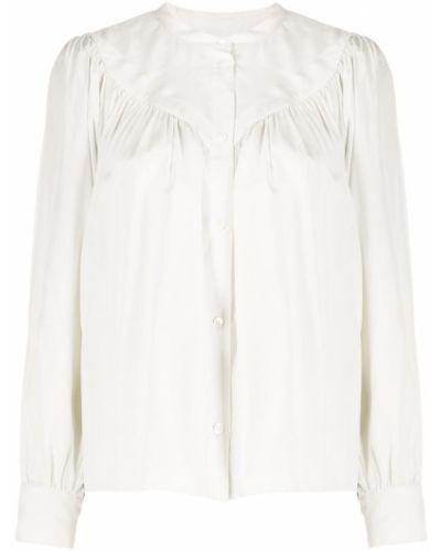 Шелковая с рукавами рубашка с воротником-стойка Masscob