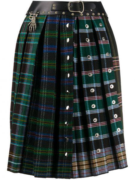 Плиссированная юбка с завышенной талией шотландка Chopova Lowena