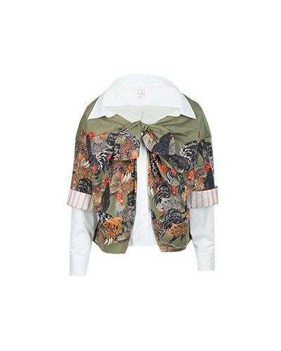 Зеленая хлопковая куртка Stella Jean