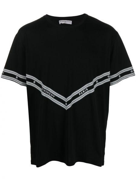 Bawełna czarny z rękawami prosto koszula krótkie z krótkim rękawem Givenchy