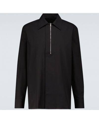 Czarna koszula bawełniana z długimi rękawami Givenchy