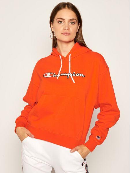 Pomarańczowa bluza vintage Champion