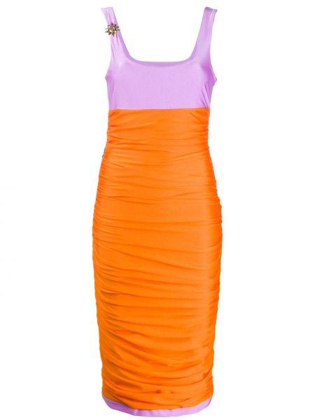 Платье миди со складками приталенное Fausto Puglisi