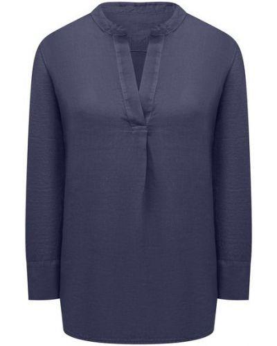 Льняная блузка - синяя 120% Lino