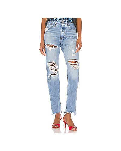 Рваные прямые джинсы на пуговицах Levi's®
