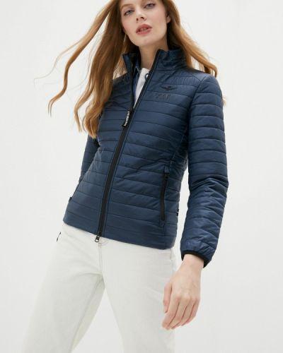 Теплая синяя утепленная куртка Aeronautica Militare