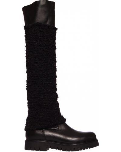 Черные ботфорты кожаные Fru.it