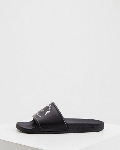 Черные пляжные шлепанцы Karl Lagerfeld