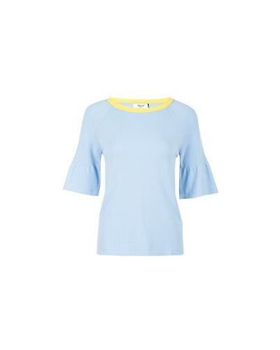 Футболка из вискозы - голубая Blugirl