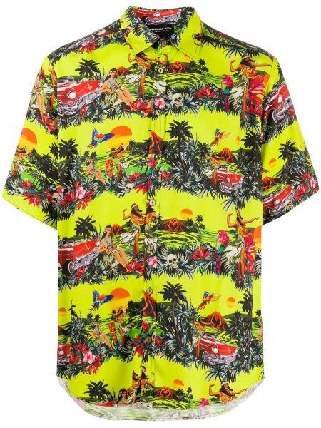 Koszula krótkie z krótkim rękawem klasyczna z nadrukiem Mauna Kea