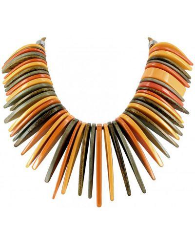 Оранжевое ожерелье с камнями Nature Bijoux