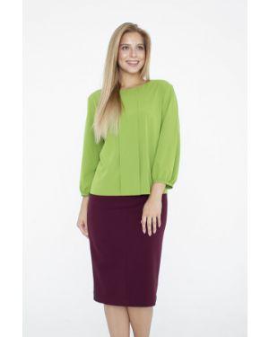 Блузка с бантом зеленый Eliseeva Olesya