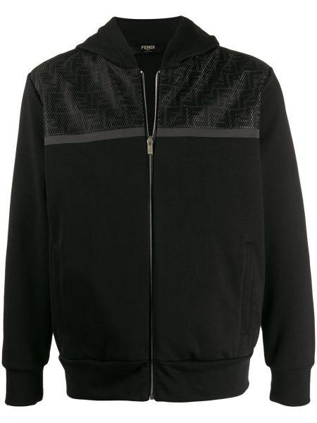 Bluza z kapturem z kapturem czarna Fendi