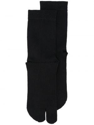 Хлопковые черные вязаные носки Maison Margiela
