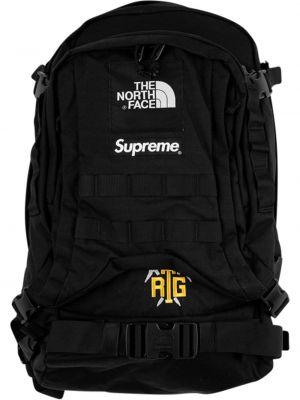 Czarny plecak klamry Supreme