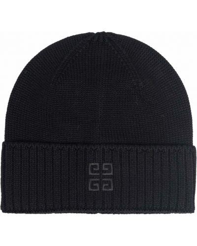 Черная шапка в рубчик Givenchy