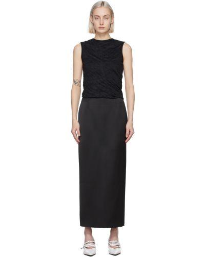 Платье макси длинное - черное Georgia Alice