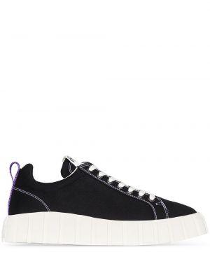 Sneakersy do biegania sznurowane czarne Eytys