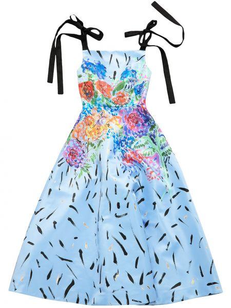 Satynowa sukienka - niebieska Christopher Kane