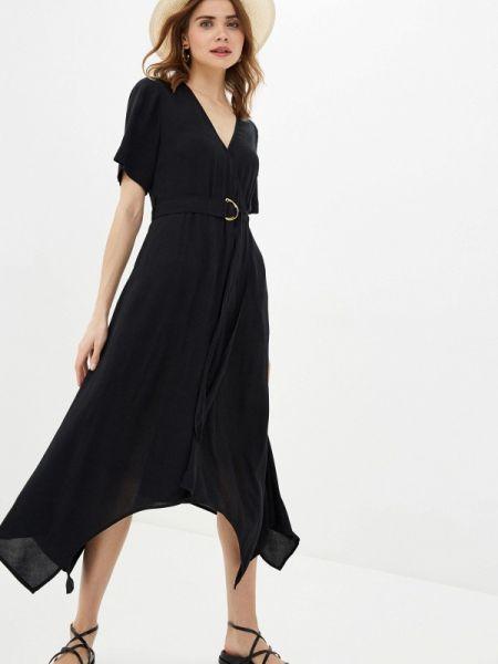 Однобортное черное платье Banana Republic