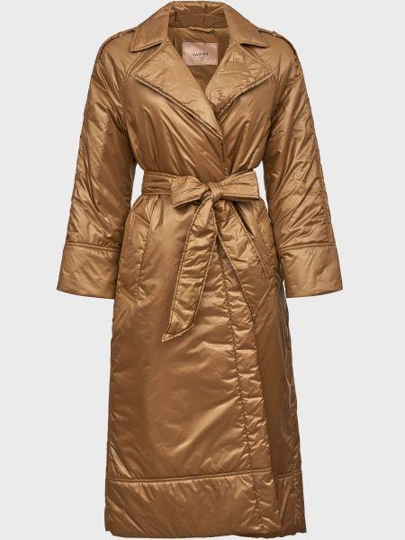 Пальто с поясом - бежевое Twin-set