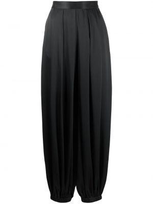 Шелковые брюки - черные Rosetta Getty
