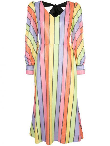 Платье миди с открытой спиной с пайетками Olivia Rubin