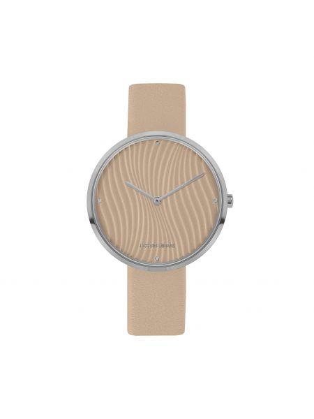Zegarek srebrny - beżowy Jacques Lemans