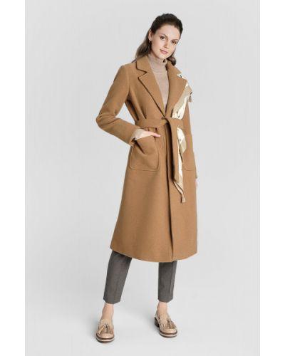 Приталенное шерстяное пальто с воротником с поясом Ostin