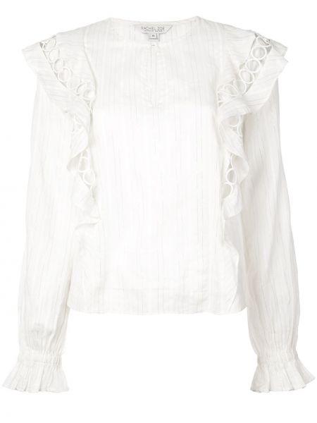Biały top w paski bawełniany Rachel Zoe