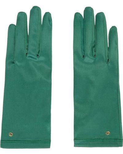 Нейлоновые перчатки - синие Gucci