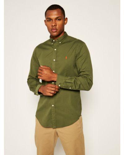 Zielona koszula slim Polo Ralph Lauren