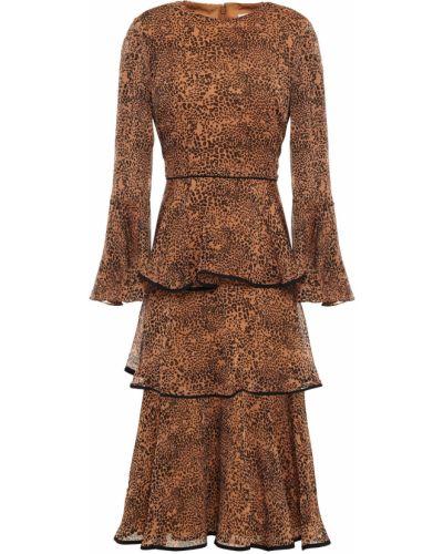 Платье миди с подкладкой на крючках с манжетами Mikael Aghal