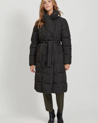 Теплая черная зимняя куртка Vila