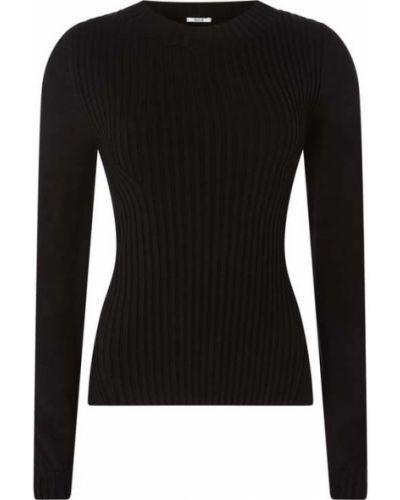 Czarny sweter wełniany asymetryczny Wolford