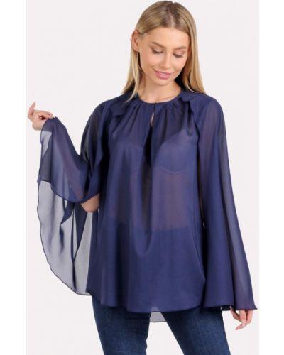 Блузка без рукавов синяя весенний Panove