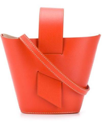 Оранжевая сумка-тоут Carolina Santo Domingo