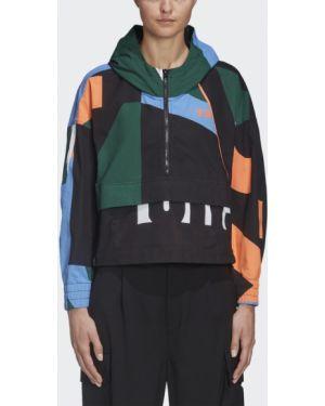 Зеленая спортивная куртка со вставками Adidas