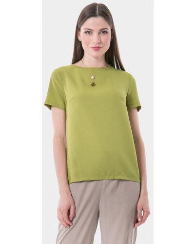 Блузка с коротким рукавом зеленый весенний Vladi Collection