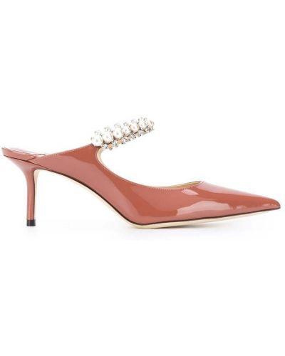 Beżowe sandały skorzane Jimmy Choo
