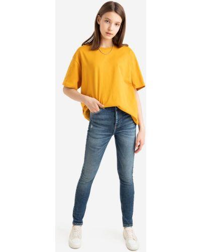 Синие джинсы стрейч Gloria Jeans