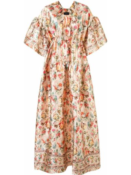 Желтое с рукавами платье мини в цветочный принт Romance Was Born