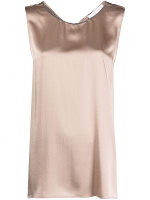 Шелковая блузка без рукавов Fabiana Filippi